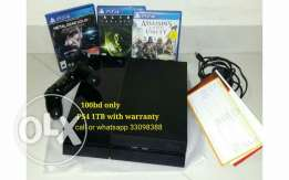 Ps4 1tb with warranty