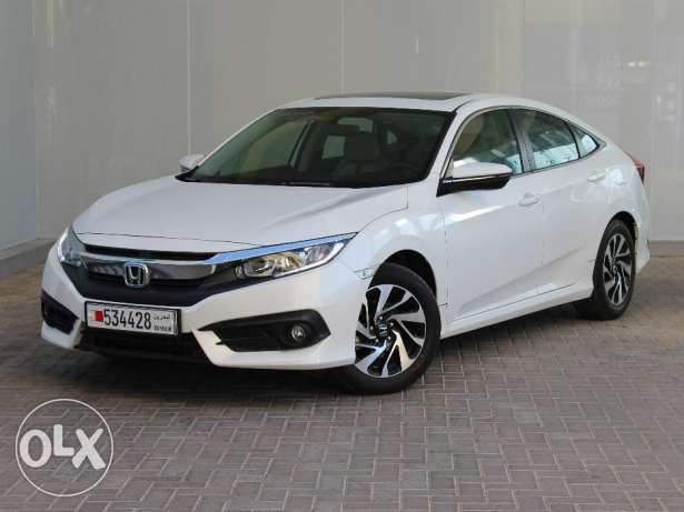 Honda Civic 2016 White For Sale