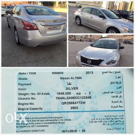 BD 3800 Nissan Altima 2013 new model, 53000km, personal selling