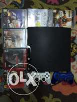 PS3 slim 250GB forsale with 2controllers and games