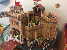 wooden Castel with plastic carpet