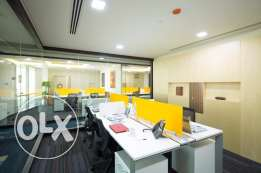 Modern furnished offices for 4 in WTC-All Inclusive