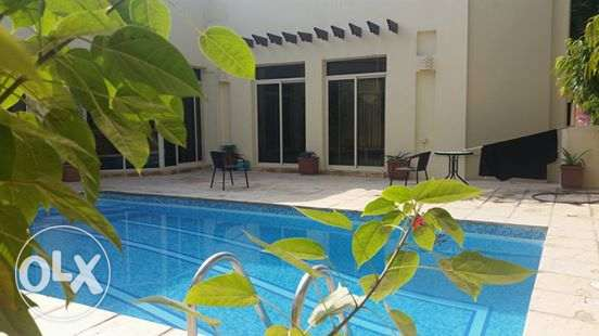 semi furnished villa with private pool