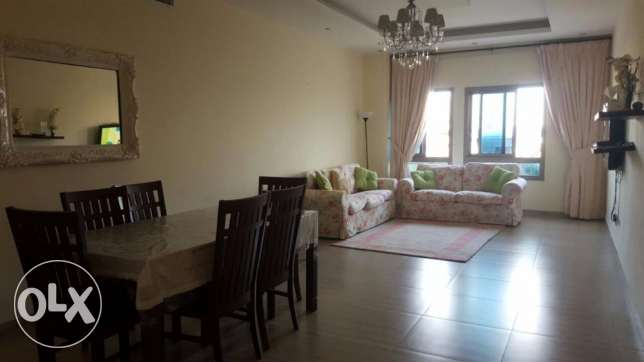 For rent apartment busaiteen two rooms and two bathrooms and a serva