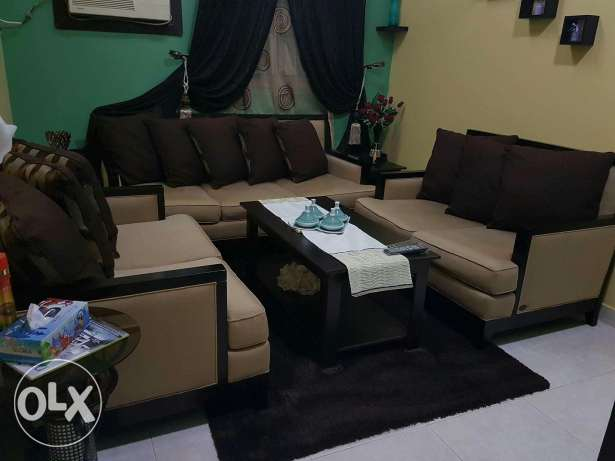 home center sofa and 2 side table one center for sale