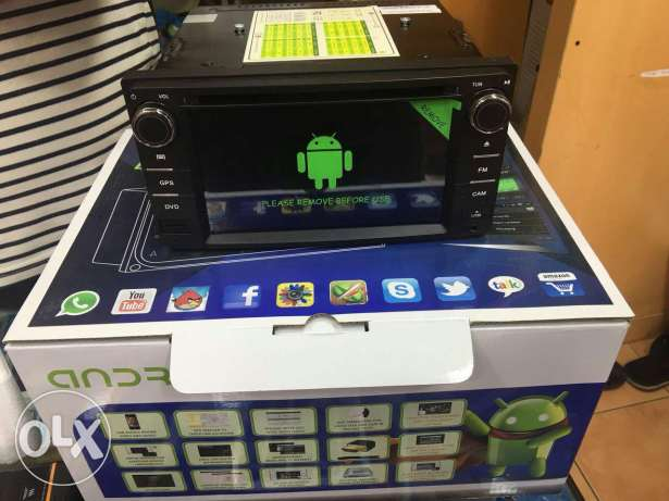 Toyota cars android dvd screen