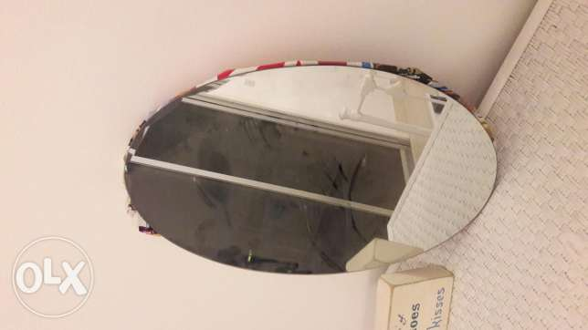 2 oval wall mirrors