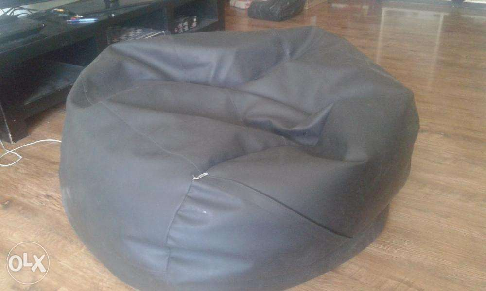 Large Black Bean Bag