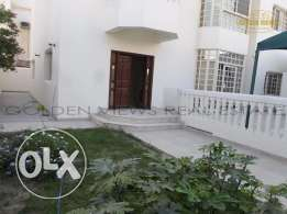4 Bedroom semi furnished villa with private pool and garden
