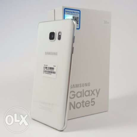Samsung galaxy note 5 32gb white pearl بو رحامه -  1