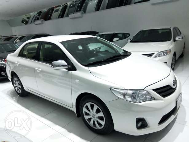 Corolla 2012 monthly installment available only through Bank