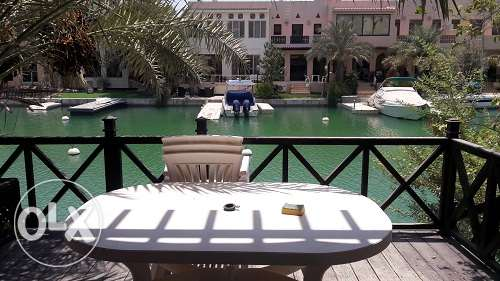 3Br +maid's room boat-dock FF villa in Amwaj floating city BD.1200 Exc