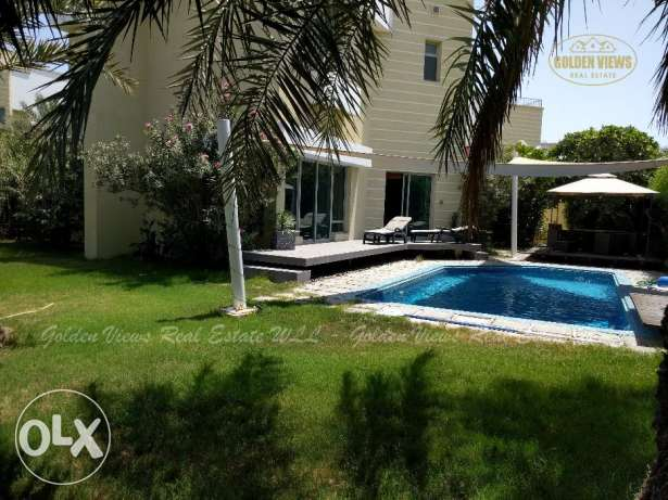 Hamala fully furnished modern villa with large private garden,pool