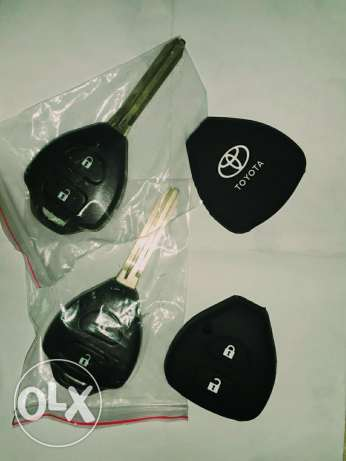 Toyota corolla, Rav4 remote key cover with rubber cover