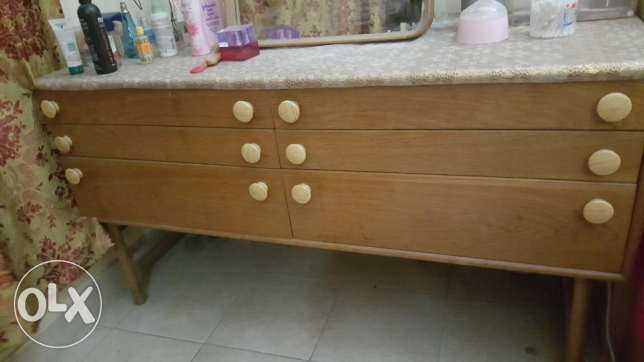 Wooden Dressing table with six drawers