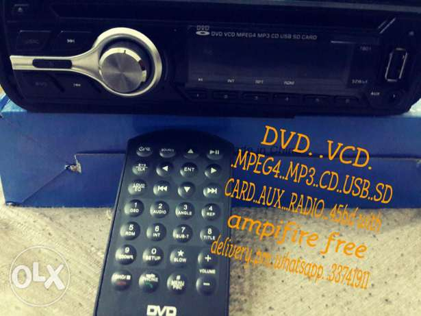 Car dvd stereo + ampifire for sale. .