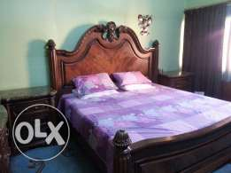 King size Bed set (pure wood) excellent condition for sale