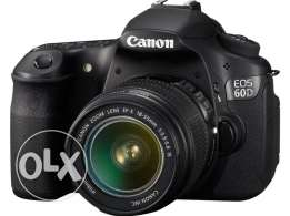 Canon EOS 60D with lens 18-55