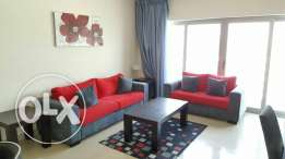 Fully furnished twoo BHK flat with gym and balcony