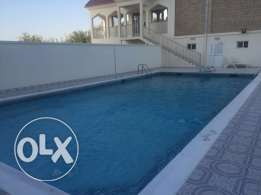 3 bhk flat in burhama for rent/semi furnished with gym and s.pool
