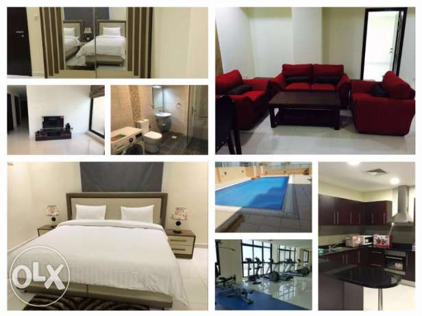 Amazing 1 Bedroom Brand new Apartment in Juffair/all facilities جفير -  8