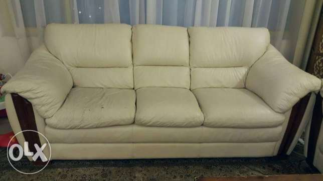Leather sofa 7 seater urgent