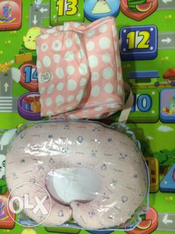 baby bag and pillow