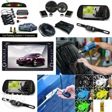 Window Tinting,Reverse Camera,Car DVD & Parking Sensor,Seat Cower