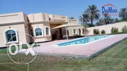 Single Storey 4 BR Semi Villa with Pvt.Garden & Pool for rent BD 1000/