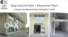 Shops/Workshop/Warehouse with Mezzanine Floor For Rent