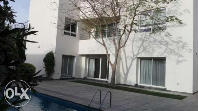 moder nsemi furnished villa with private pool close to ksa