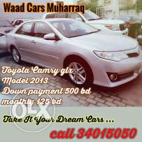 Toyota camry glx 2013 model for sale now .installments also