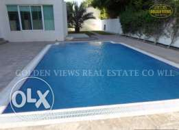 Modern semi furnished villa with private pool ,garden