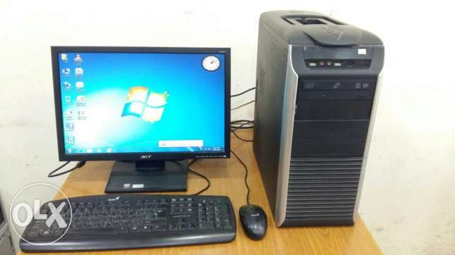 "Compuer Full Set Core 2 Duo with 19"" LCD Monitor"