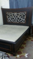 King size bed with mattress +side table for sale