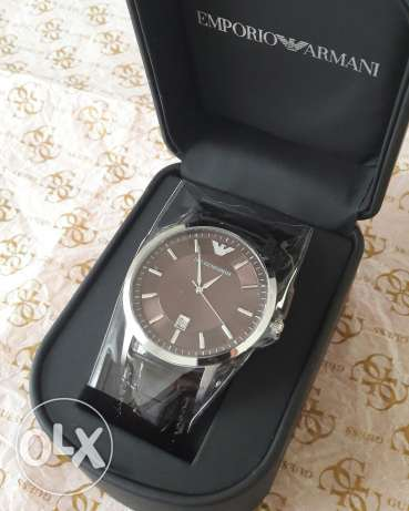 Emporio armani mens watch for sale leather belt