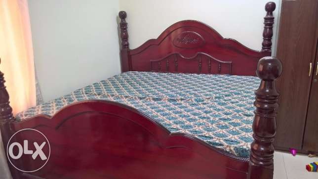 Royal Look King Size Bed.. Very hard wood for sale ... Expat Leaving
