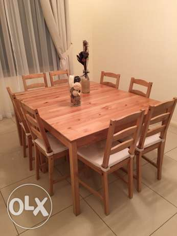 Set of two dinning tables + 8 chairs