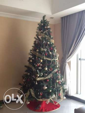 2.4m Christmas Tree and Decorations