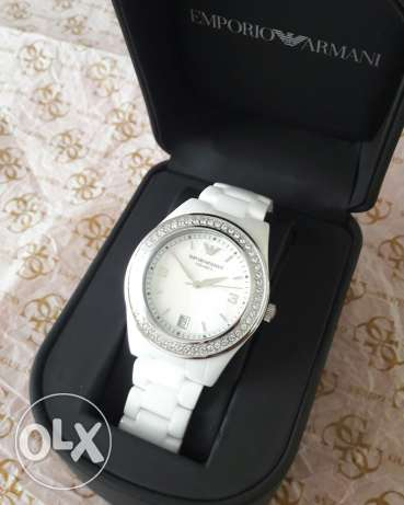 Emporio armani original ceramic ladies watch for sale with warranty