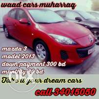 Mazda 3 model 2013 model low milege for sale Amazing chance togetloan