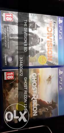 Ghost Recon +Division for sale ps4