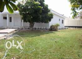4 Bedroom semi furnished villa for rent with large garden