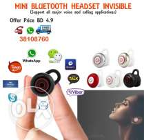 mini invisible bluetooth in ear headset (support all major voice appli