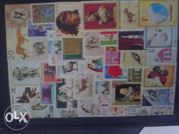 Postal Stamp collection 27 countries and 220 stamps.