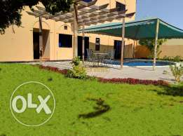 5 Bedroom semi furnished villa with private pool,garden,garage