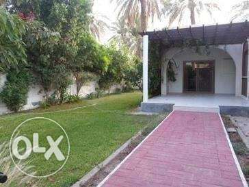 semi furnished villa with huge garden700