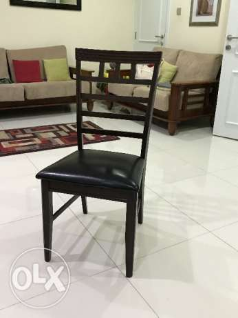 Dining table wooden chairs - 6 pcs