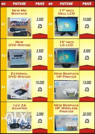 New Laptop Charger And New Battery Very Low Price