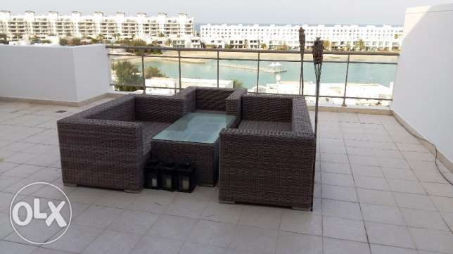Stylish 3 Bedrooms Penthouse Semi Furnished with huge balcony & sea v